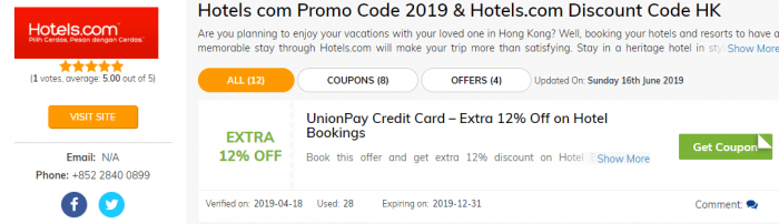 Hotels.com Discount Coupon Code