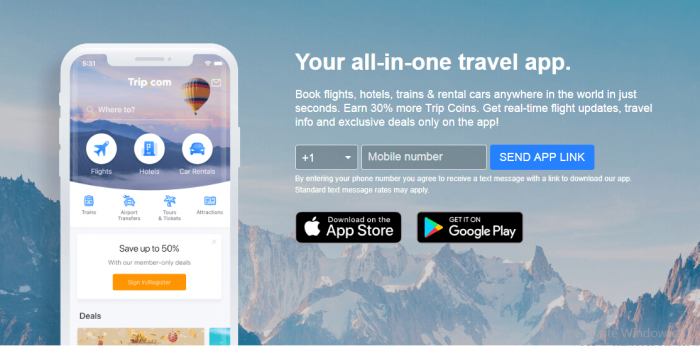 Trip.ciom ( Ctrip ) Mobile App IOS and Android